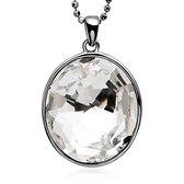 Zinzi - Zilveren Hanger - Swarovski Kristal - Wit (ZIH664)