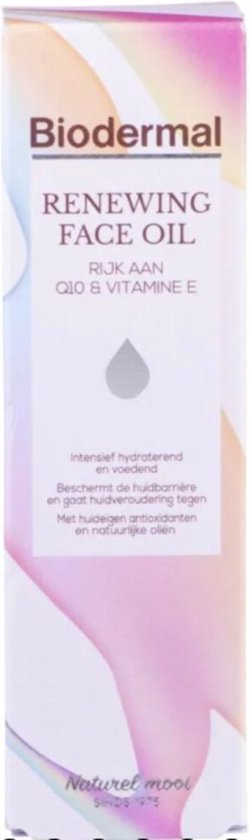 Biodermal Renewing Face Oil – Met krachtige huideigen antioxidanten Q10 - 30ml - Biodermal