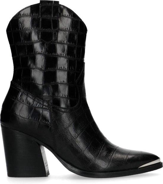 Zwarte western boots met hak Dames | MANFIELD