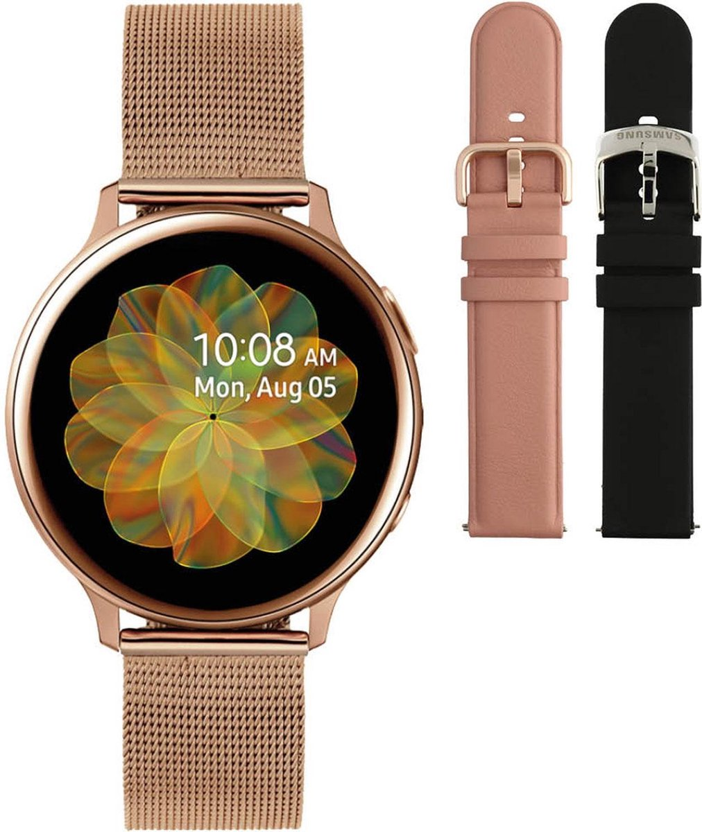 Samsung Active2 smartwatch SA.R830RM- Staal - Milanese band - Rosékleurig - Ø 40 mm - Special edition kopen