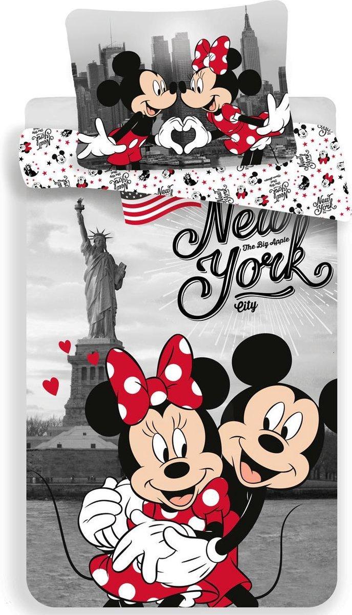 Disney Minnie Mouse Dekbedovertrek New York - Eenpersoons - 140  x 200 cm - Multi kopen
