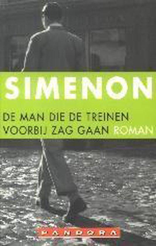 Cover van het boek 'De man die de treinen voorbij zag gaan' van Georges Simenon