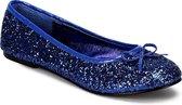 Donkerblauwe ballerina schoenen met glitters 41