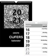 Castelli kalender 2021 - grote cijfers - grote cijferkalender - weekkalender - weekplanner - 30.1 x 21 x 0.7 cm