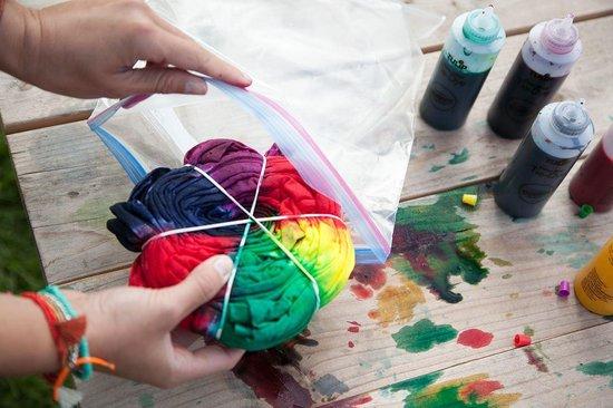 Nince Tie-Dye kit van hoge kwaliteit Kit 3 - Complete kit van 5 kleuren textiel - Tie Dye set - Tie Dye verf premium kwaliteit 3 varianten