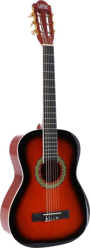 LaPaz 002 SB klassieke gitaar 3/4-formaat sunburst + statief + tuner