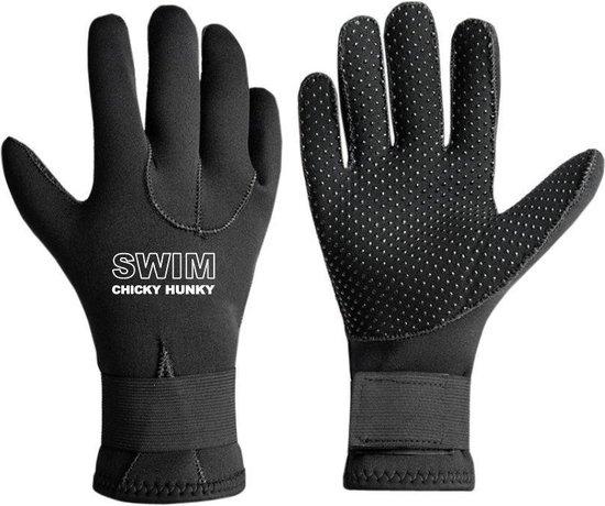 Neopreen Zwemhandschoenen ZWART 3MM Neoprene Zwemhandschoenen - Unisex | Swim Chicky & Swim Hunky
