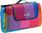 relaxdays Picknickkleed waterdicht - fleece deken - 200 x 200 cm - opvouwbaar - bont