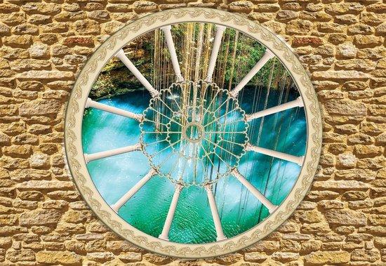 Fotobehang Stone Wall Nature | XXXL - 416cm x 254cm | 130g/m2 Vlies