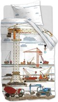 Beddinghouse Kids Building Site - Dekbedovertrek - Eenpersoons - 140x200/220 cm  cm - Multi