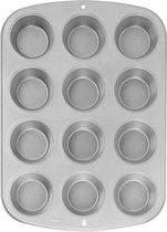 Wilton - Recipe Right - Bakvorm - Mini Cupcakes en Muffins - 12 mini cupcakes - Anti-aanbaklaag