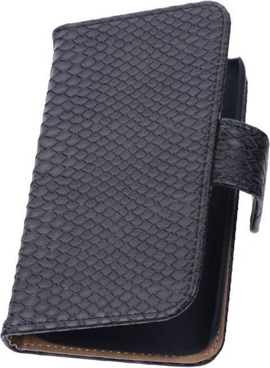 Wicked Narwal | Snake bookstyle / book case/ wallet case Hoes voor sony Xperia Z3 D6603 Zwart
