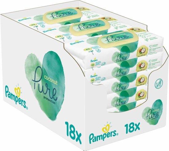 Pampers Pure Coconut Babydoekjes - 756 Doekjes