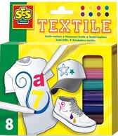 Kleurstiften Textiel 8 Stuks - Multi