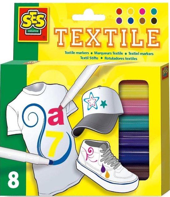 Textielstiften SES 8 Stuks
