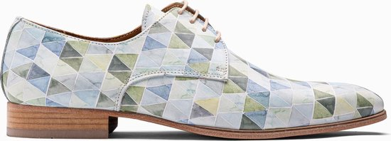 Paulo Bellini Dress Shoe Carbonia Green Leather Multicolor.