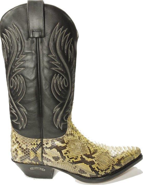 Sendra 2605-P-Pico Handgemaakte Spitse Cowboy Boots voor Mannen Schuine Hak Echt Leer