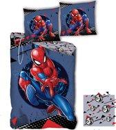 SpiderMan Dekbedovertrek Hero - Eenpersoons - 140  x 200 cm - Polyester
