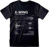 STAR WARS - T-Shirt - X-Wing Sketch (XXL)