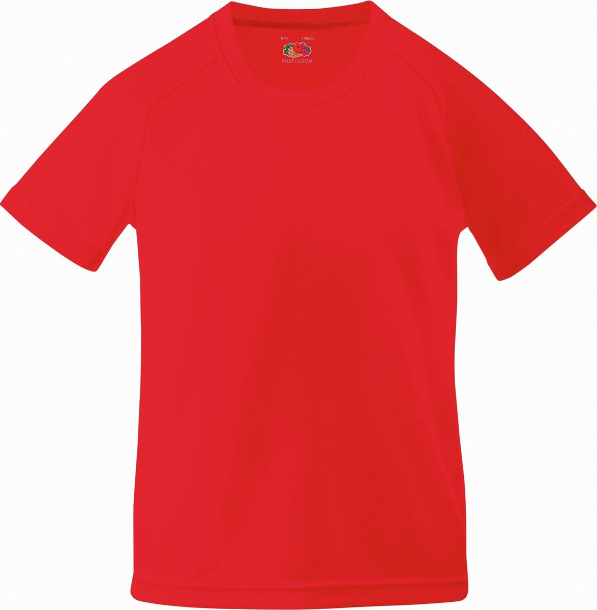 Fruit Of The Loom Kinder Unisex Performance Sportskleding T-shirt (Rood)