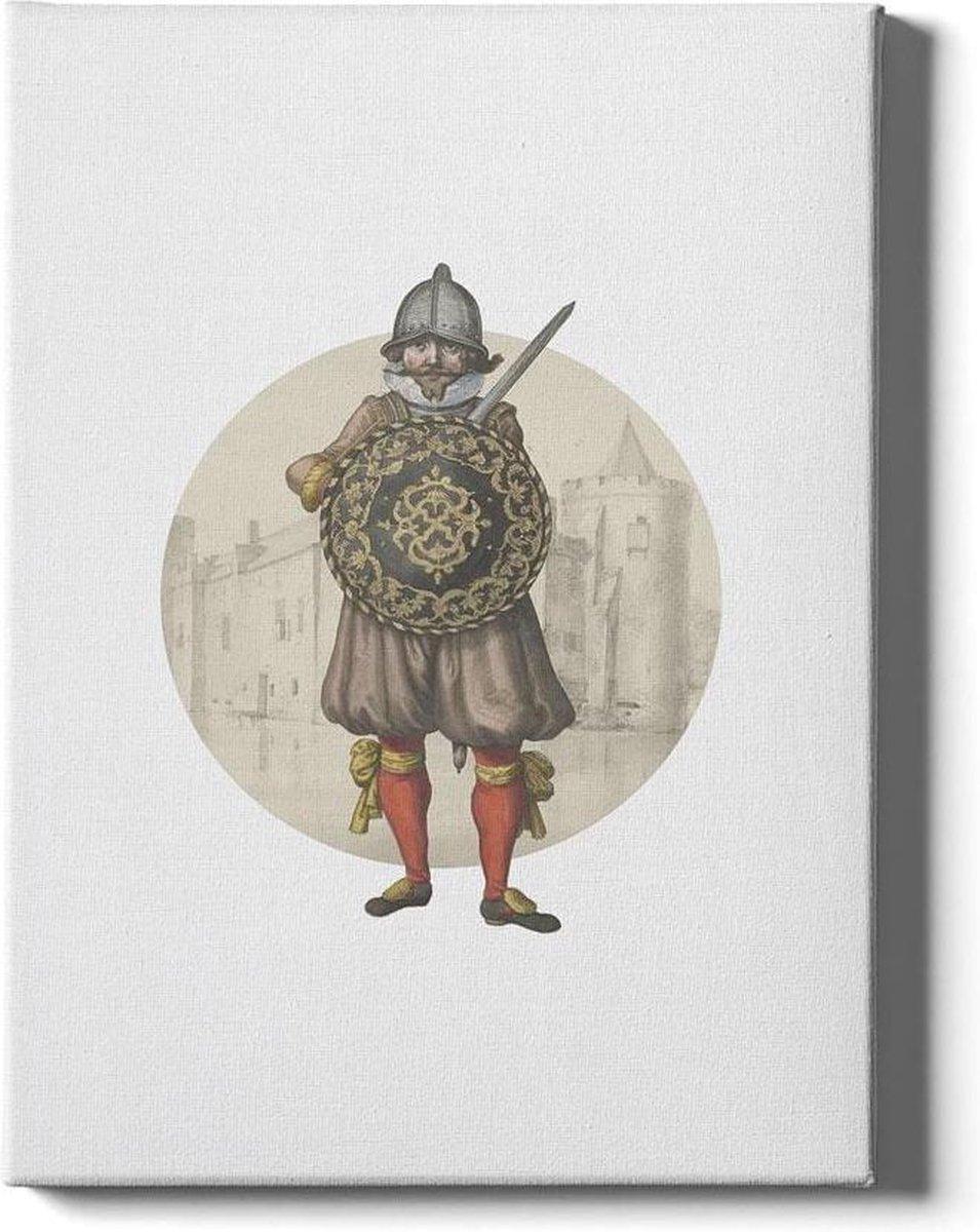 Knight II - Walljar - Wanddecoratie - Schilderij - Canvas