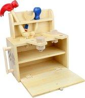 LOEF - draagbaar Speelgoed Gereedschapsset - speelgoedkist - duurzaam speelgoed - bamboe eco+