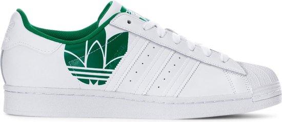 Adidas - Sportschoenen - Unisex - Superstar - white,green