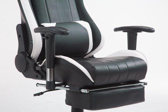 Clp Shift - Bureaustoel - Kunstleer - zwart/wit met voetsteun - Clp