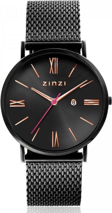 ZINZI horloge ZIW509M Zwart 34mm + gratis Zinzi armbandje