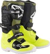 Alpinestars Kinder Crosslaarzen Tech 7S Fluor Yellow/Military Green/Black-37 (EU)