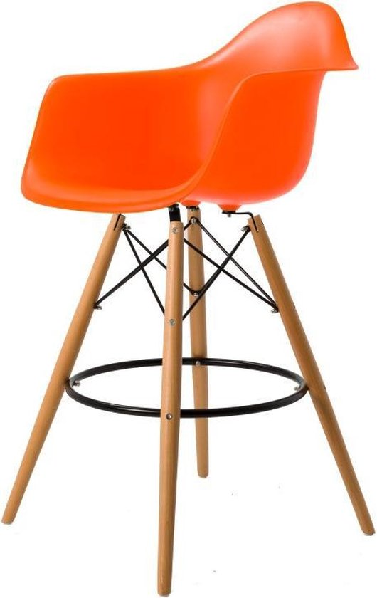 Charles Eames,eetkamerstoel DD DSW mat PP neon blauw