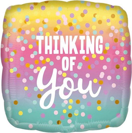 Folieballon Thinking of You - 43 cm