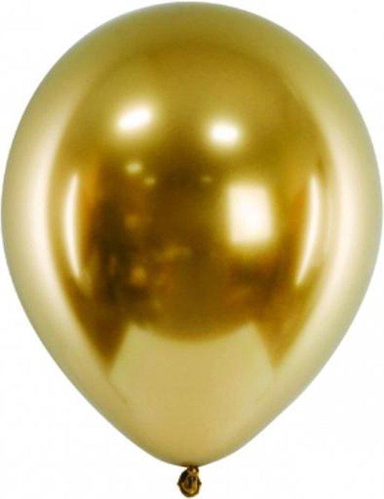 Ballonnen CHROME Goud 50 stuks