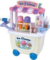 Speelgoedwinkel kinderen - Duwwagen - IJskraam met ijsjes