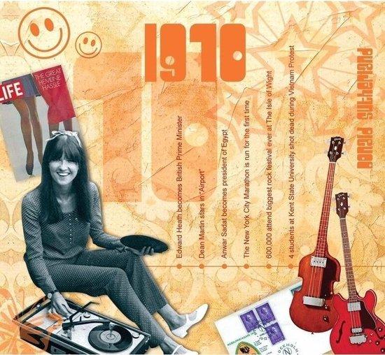 Verjaardagskaart 50 jaar met muziek uit 1970 - Cadeau/kado voor 50-jarige Abraham of Sarah - Vijftigste/50e verjaardag