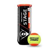 Dunlop Stage 2 Tennisballen - 3 stuks -oranje/geel