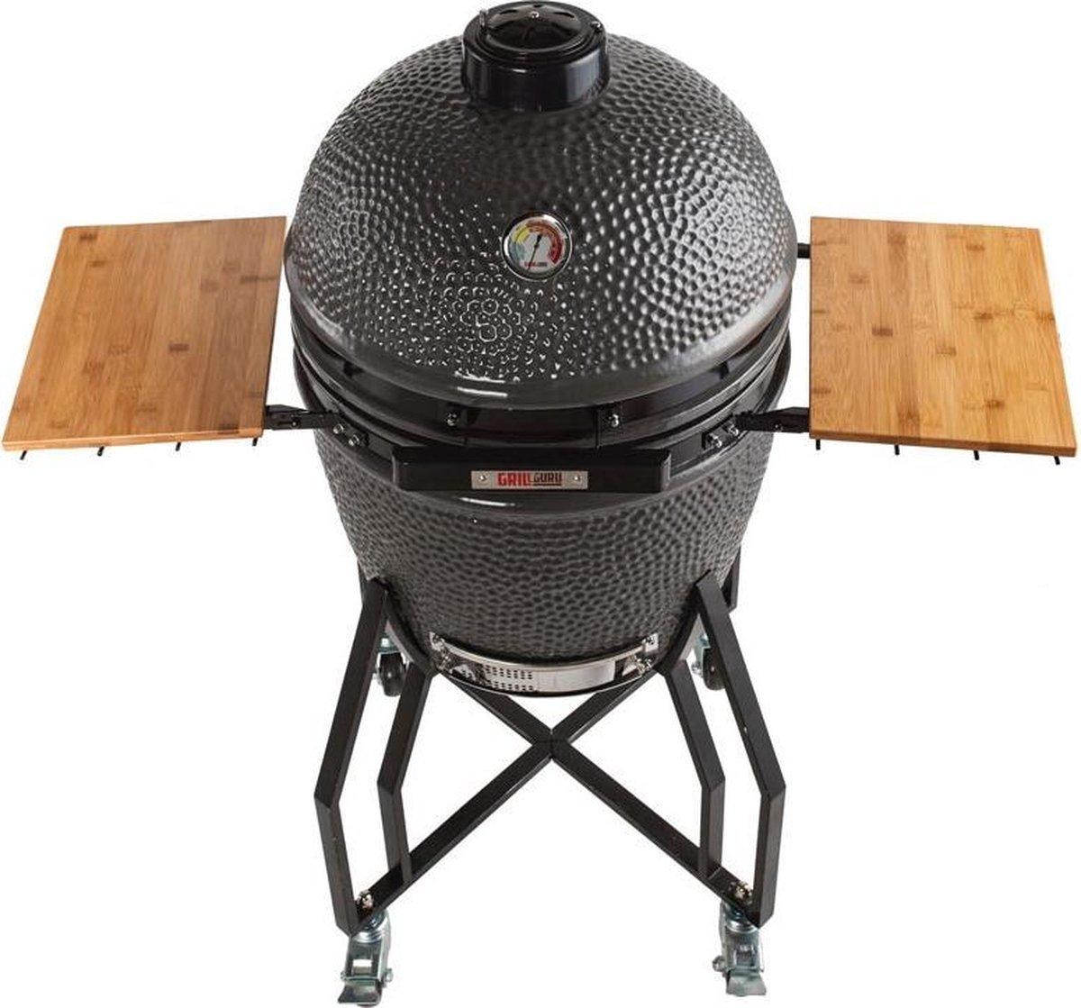 Grill Guru Classic Kamado Houtskool Barbecue - Grilloppervlak Ø 46 cm - Keramiek - Grijs