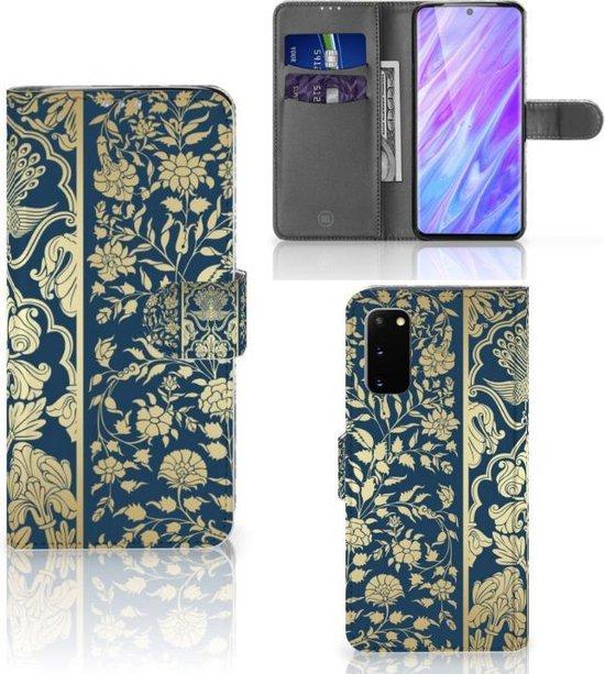 Bookcover Samsung Galaxy S20 Hoesje Golden Flowers
