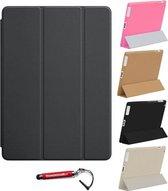 iPad Air 2 Smart Cover zwart / Vouw hoesjes Apple iPad Air 2 / Vouw hoesje iPad Air 2 / Inclusief handige uitschuifbare Hoesjesweb Stylus Pen, hoesje Apple iPad, iPad hoes