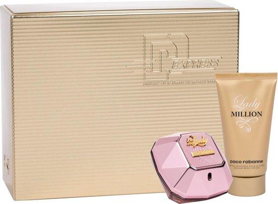 Paco Rabanne Lady Million Empire Giftset - 50 ml eau de parfum spray + 75 ml bodylotion - cadeauset voor dames