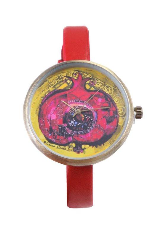 BiggDesign - Dames Horloge - Lederen Band - RVS Kast - 40mm - 3 ATM Waterbestendig - Japans Mechanisme