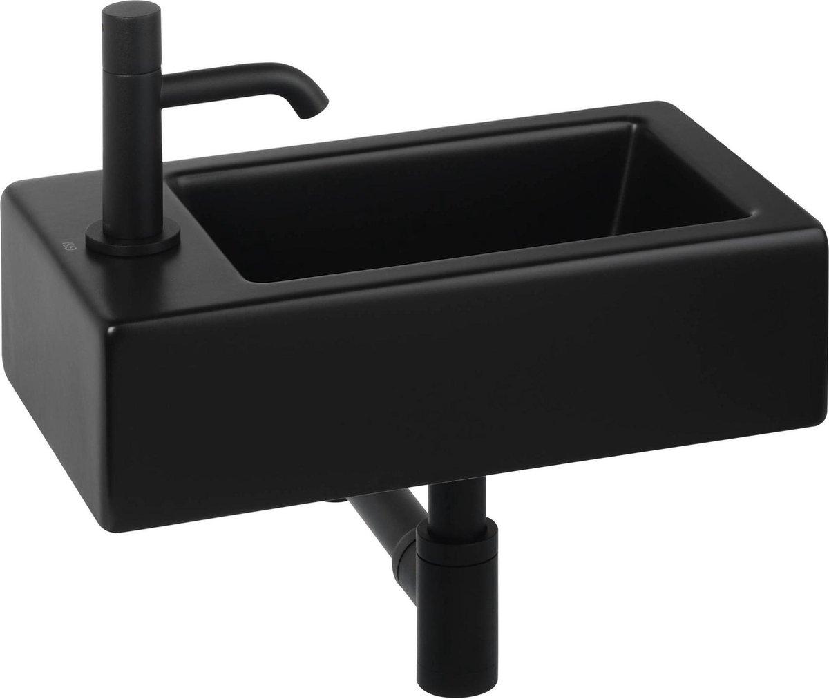 Ben Scuro fonteinset links mat zwart/gestructureerd zwart