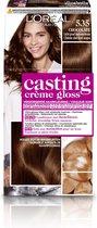 L'Oréal Paris Casting Crème Gloss Haarverf - 535 Licht Goud Mahoniebruin