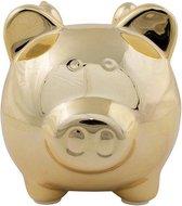 Spaarpot spaarvarken goud met vleugels 12 cm - Dieren spaarpotten varkens/biggen voor kinderen en volwassenen