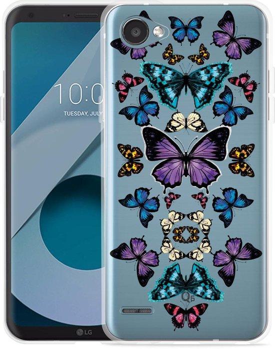 LG Q6 Hoesje Vlinder Symmetrie