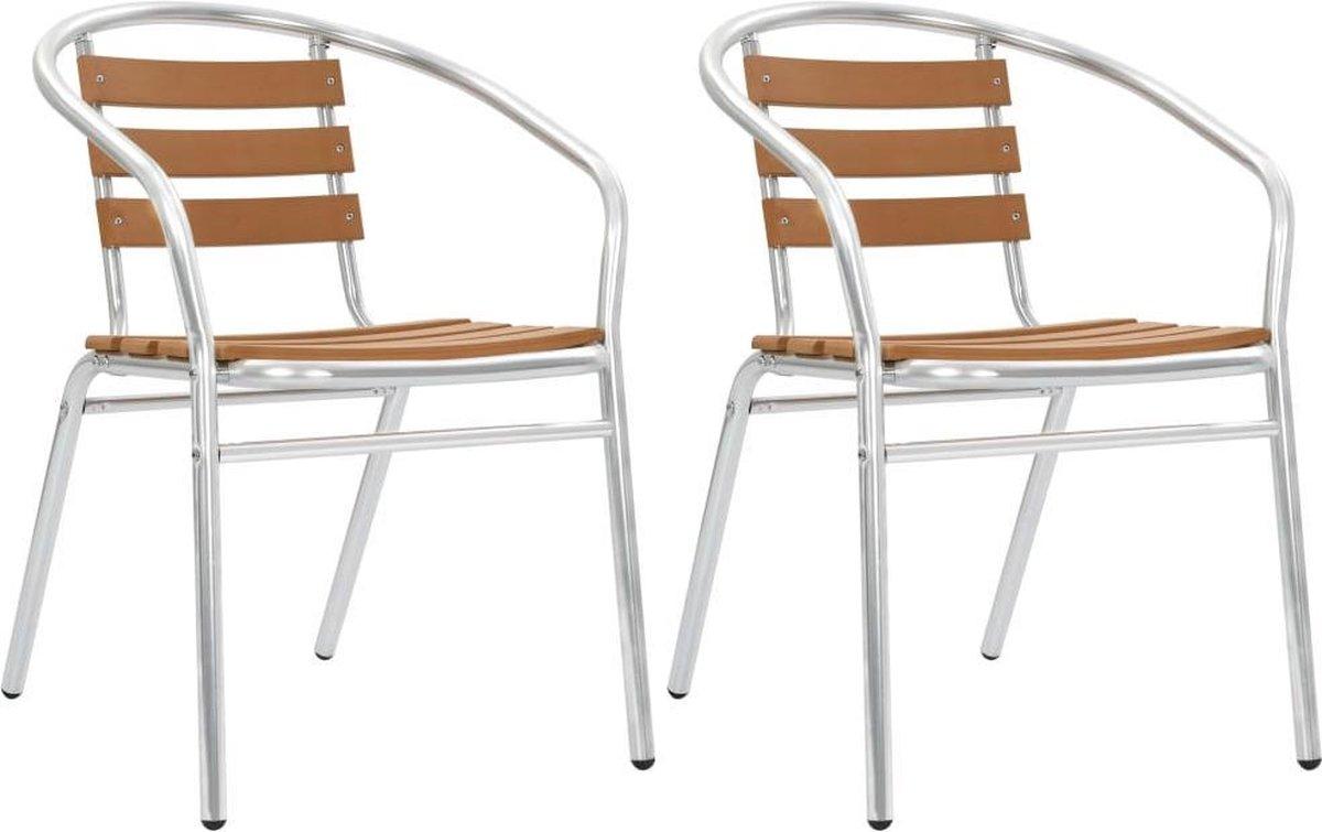 2 x Tuinstoel (Incl LW Fleece deken) Tuin stoelen Buiten stoelen Balkon stoelen Relax stoelen Schommelstoel