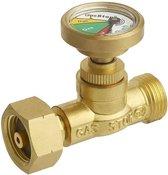 GasStop gasfleszekering voor propaangasflessen G5 DIN