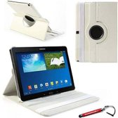 Witte 360 graden draaibare tablethoes Galaxy Note 10.1 2014 Edition