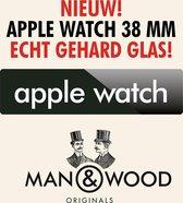 Man & Wood Screenprotector / Schermbescherming ECHT GEHARD GLAS (Tempered Glass) - Apple Watch 38 mm