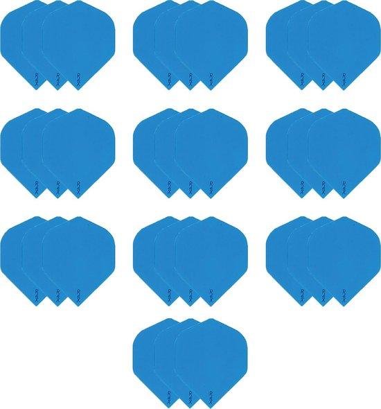 Afbeelding van het spel 10 sets (30 stuks) Dragon darts R4x blauw dart flights extra stevige - darts flights
